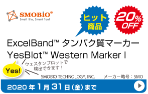 ExcelBand タンパク質分子量マーカー20%OFF!