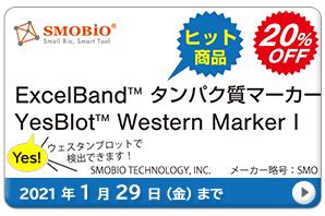 ExcelBand(TM)タンパク質分子量マーカー 20%OFF キャンペーン 期間:2021年1月29日(金)まで