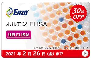 ホルモン ELISA 30%OFF キャンペーン 期間:2021年2月26日(金)まで