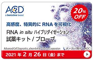 RNA in situ ハイブリダイゼーション 試薬キット・プローブ 20%OFF キャンペーン 期間:2021年2月26日(金)まで