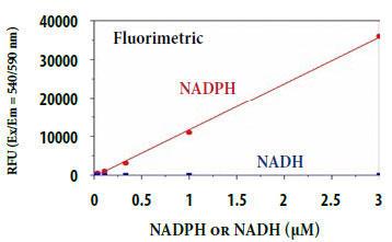 NADPHの用量反応測定