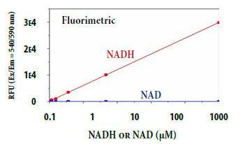 NADHの用量反応測定