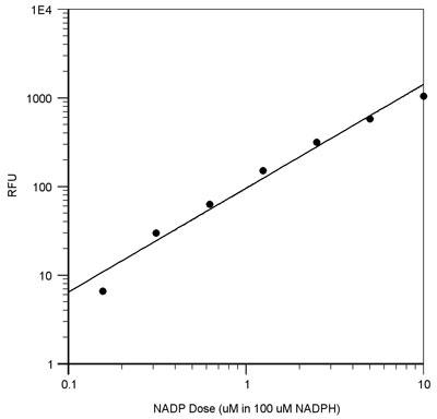 NADP標準曲線