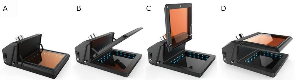 Gel-Brite™ LED illuminatorの可動式フィルター