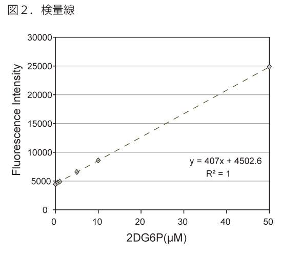 グルコース細胞内取込量測定キットの検量線