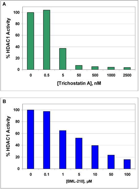 トリコスタチンA および BML-210 (品番BML-GR330) によるHDAC1の阻害