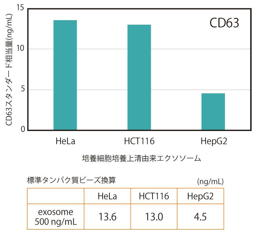 CD63/CD63 ELISA による<br>精製エクソソームの定量