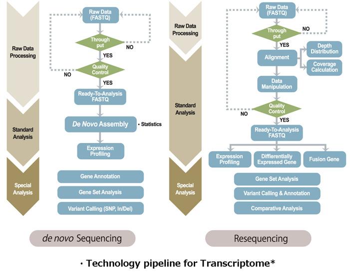 Technology pipeline for Transcriptome