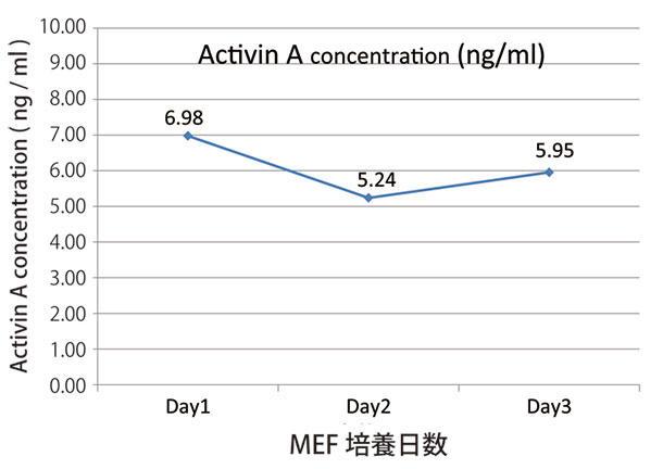 MEF培養上清中のActivin A 濃度